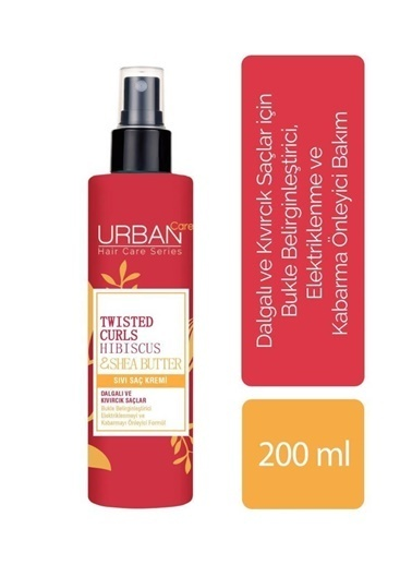 Urban Care Urban Care Twisted Curls Hibiscus&Shea Butter Sıvı Saç Kremi 200 Ml Renksiz